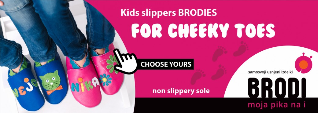 Leather kid's slippers