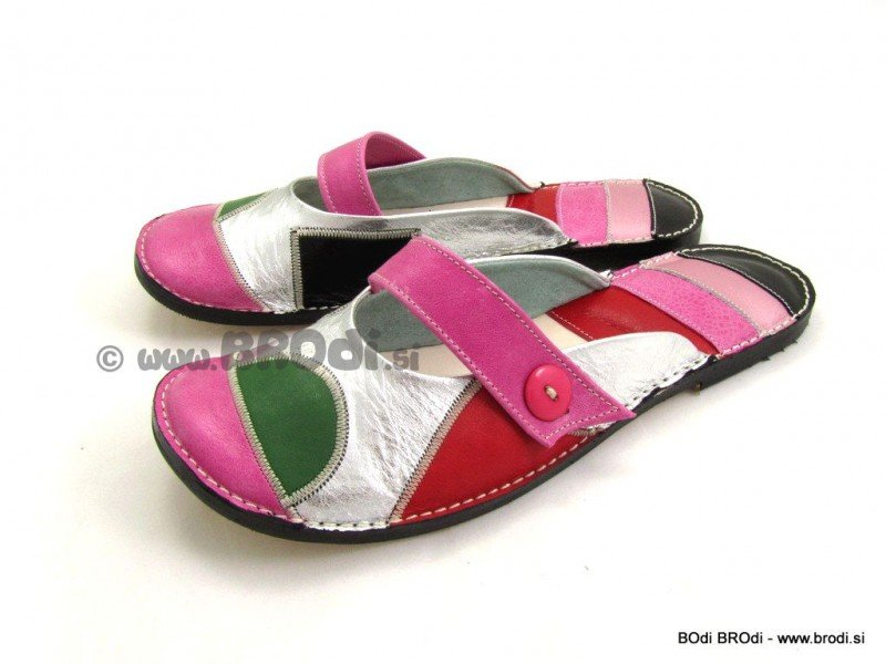 Ballerina Shoes Gaja Pink with Strap