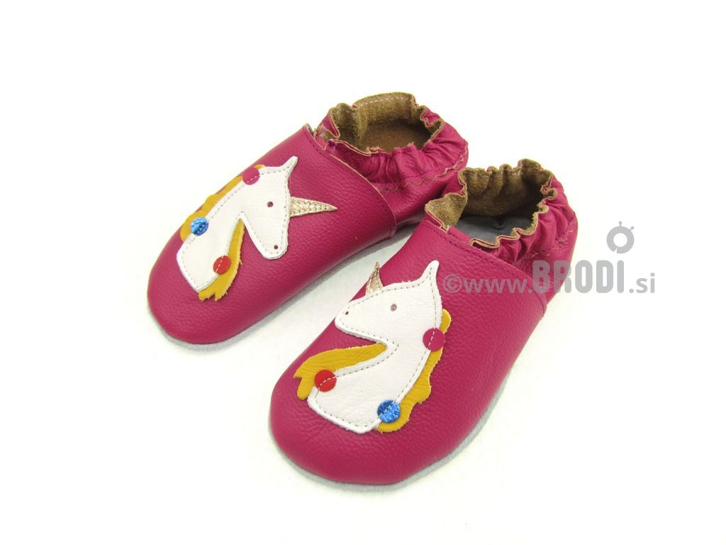 Kids Slippers Brodies Pink with Unicorn