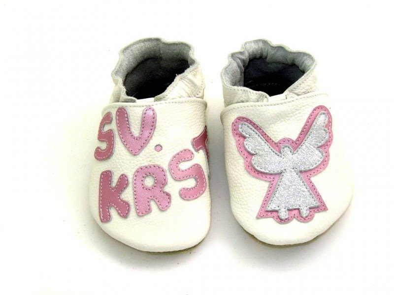 Slippers for Baptism Girls