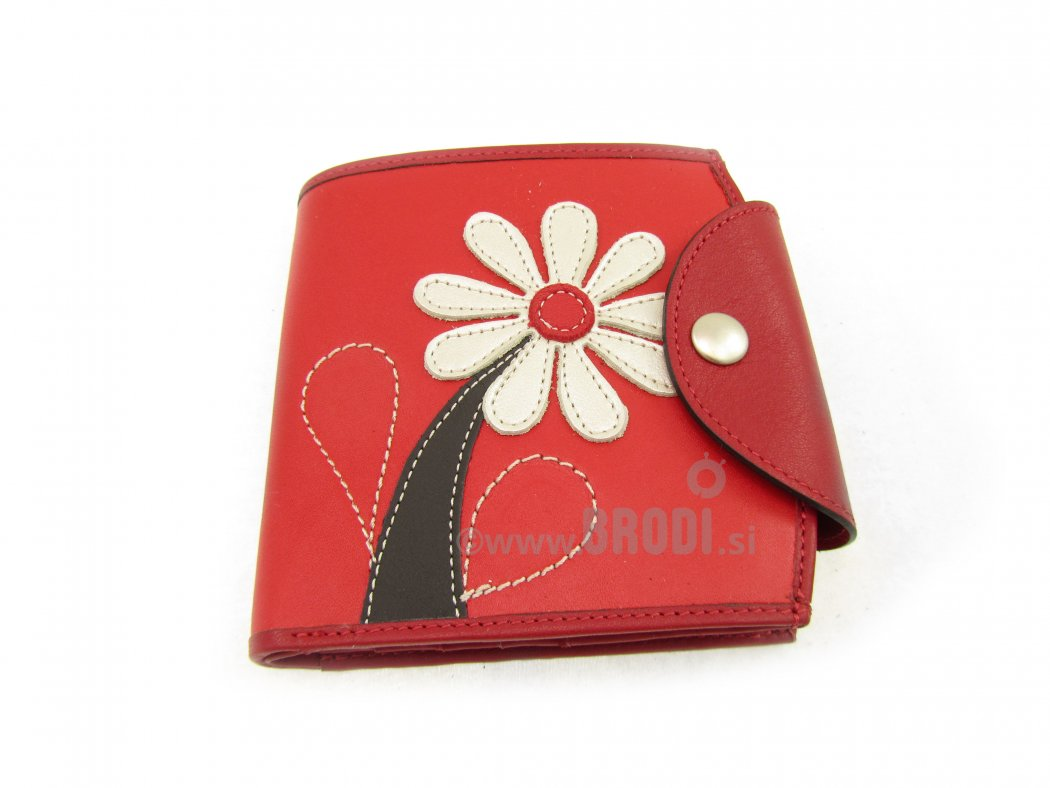 Wallet Ula Red with Flower
