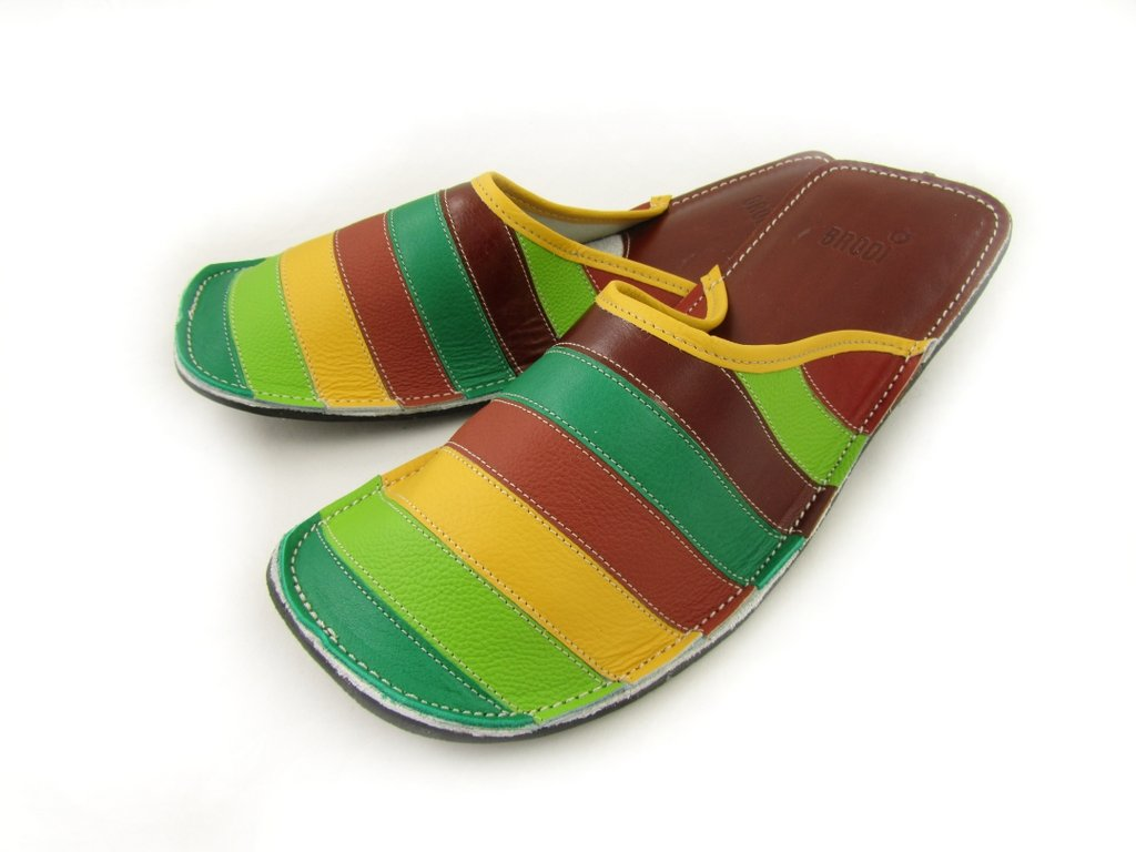 Gal Brown and Green Stripes