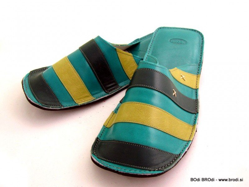 Gal Turquoise with Stripes