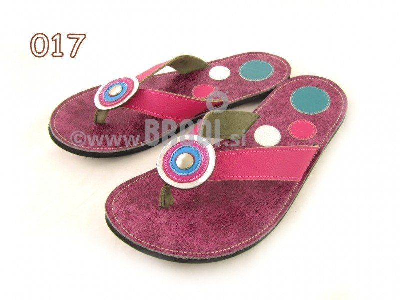 Flip-flops Mimi Fuchsia Different Decorations