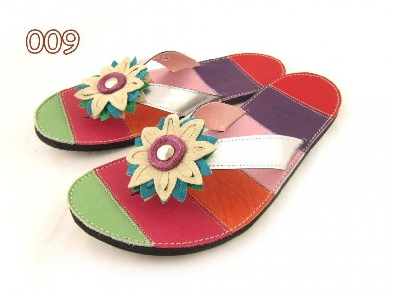 Flip-flops Mimi Colourful Stripes Different Decorations