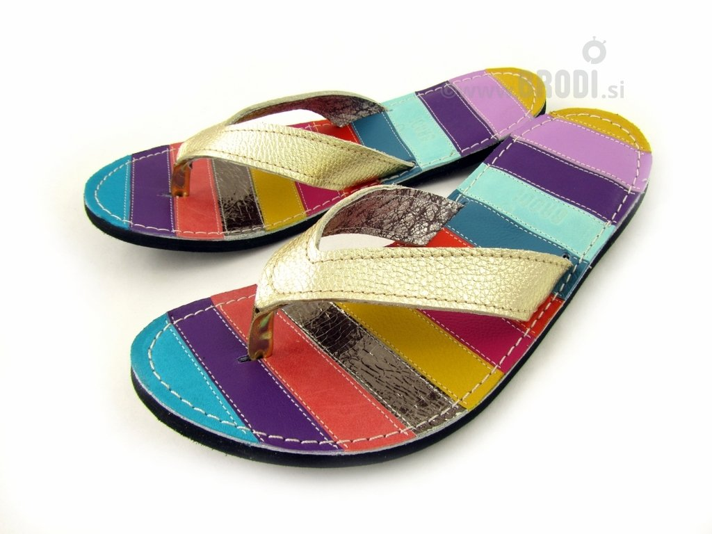 Flip-flops Mimi Colourful with Blue