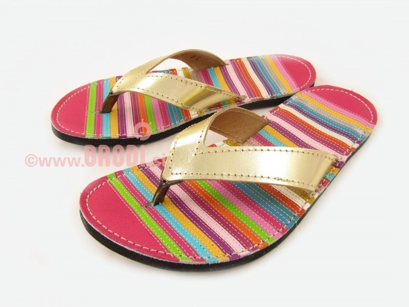 Flip-flops Mimi with Colourful Stripes