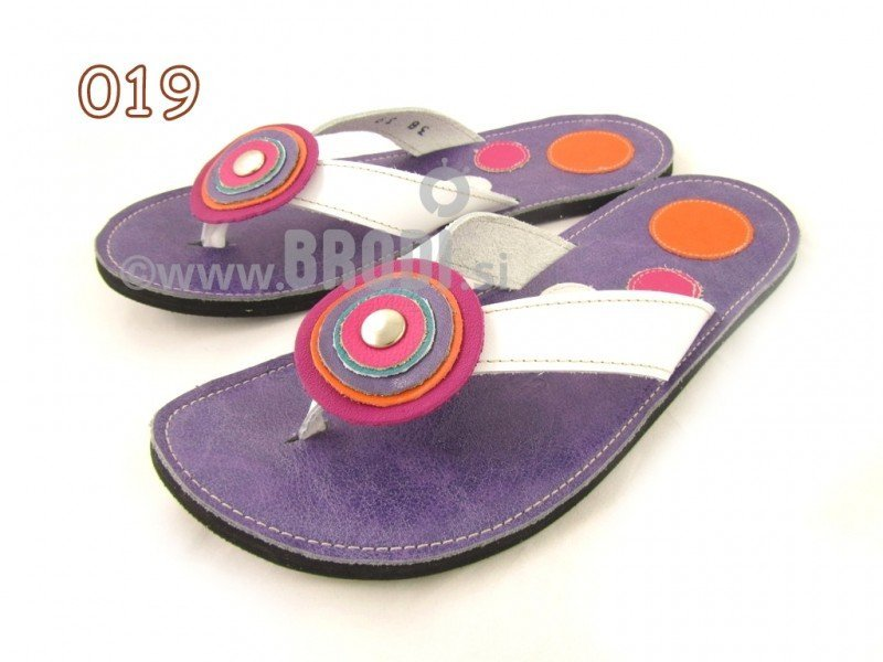 Flip-flops Mimi Violet Different Decorations