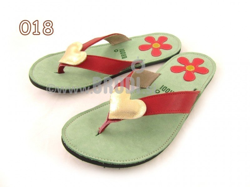 Flip-flops Mimi Green Different Decorations