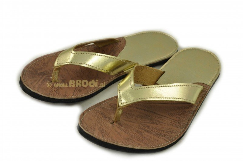 Flip-flops Mimi Black and Gold