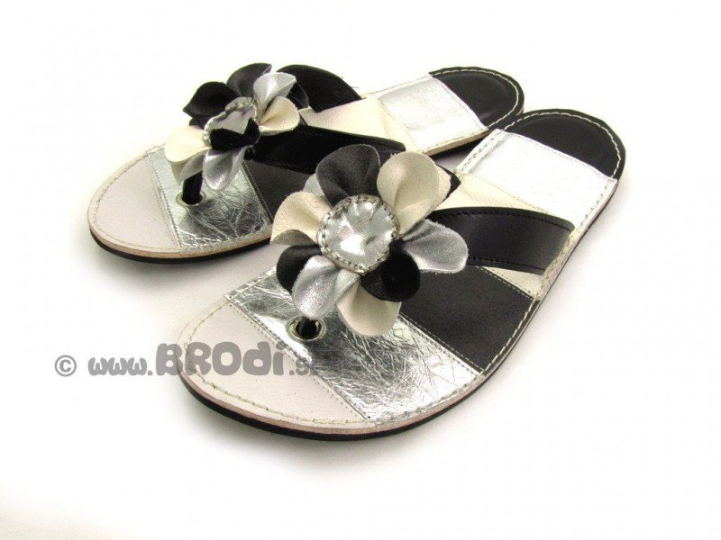 Flip-flops Rozi Silver and Black