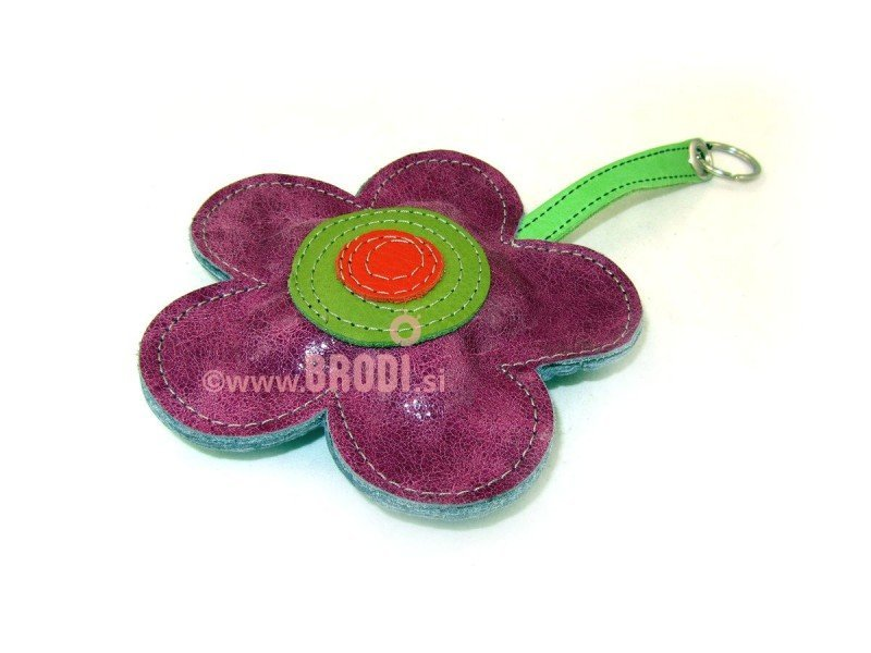 Keychain Big Flower Violet