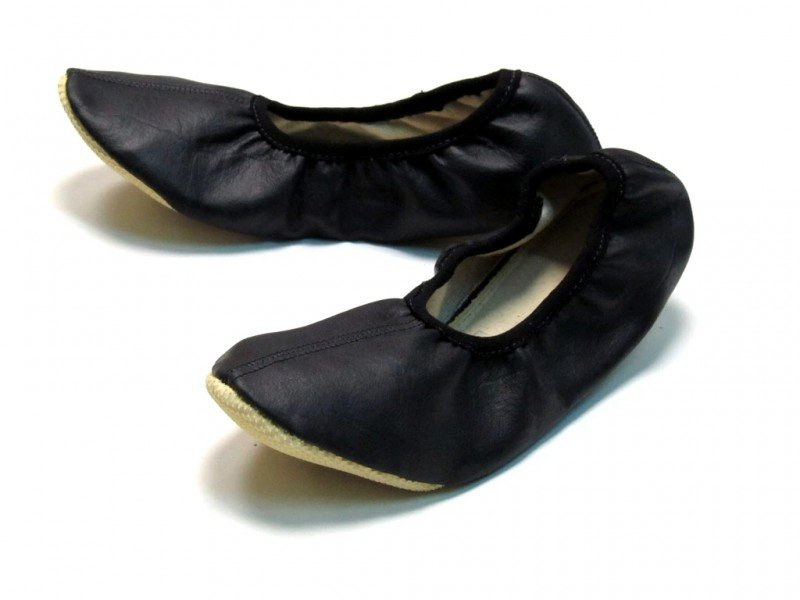 School Slippers Black