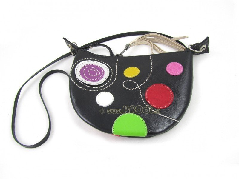 Handbag Mini Black with Circles