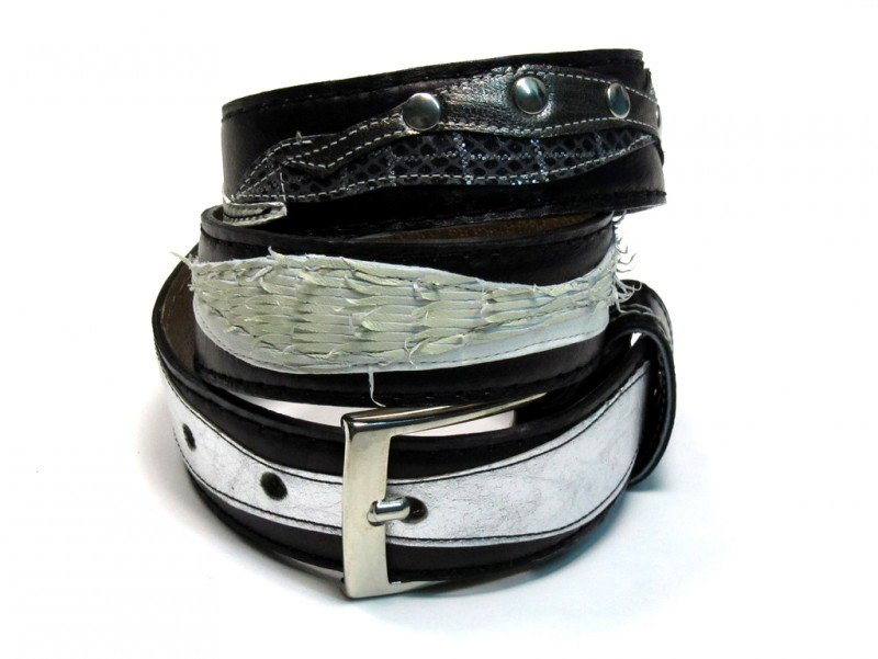 Leather Belt Kiri BW
