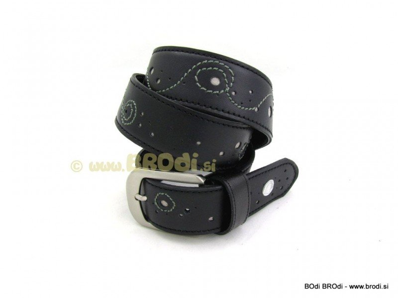 Leather Belt Kiri Black Elegant