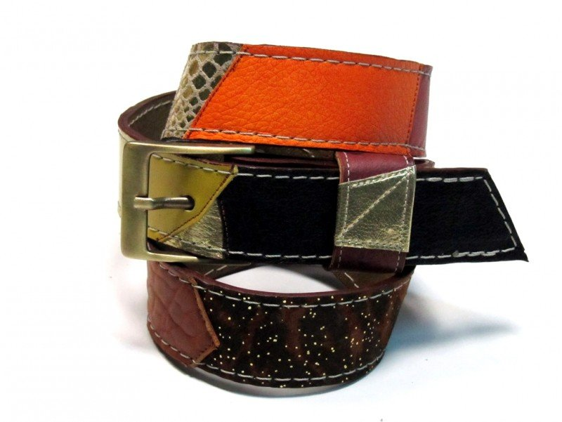 Leather Belt Kiri Autumn Colours