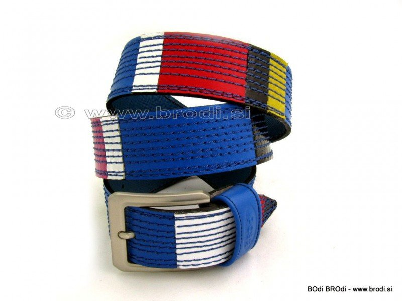 Leather Belt Kiri with Cubes