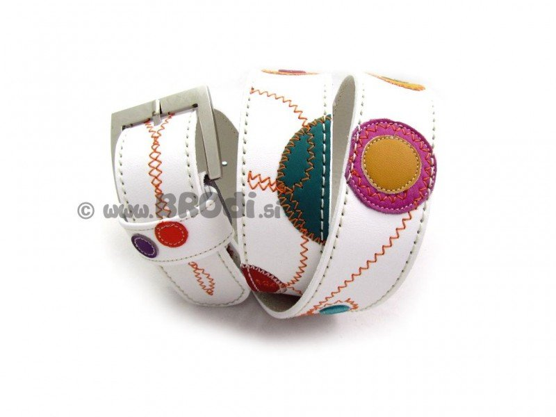 Leather Belt Kiri Simply White