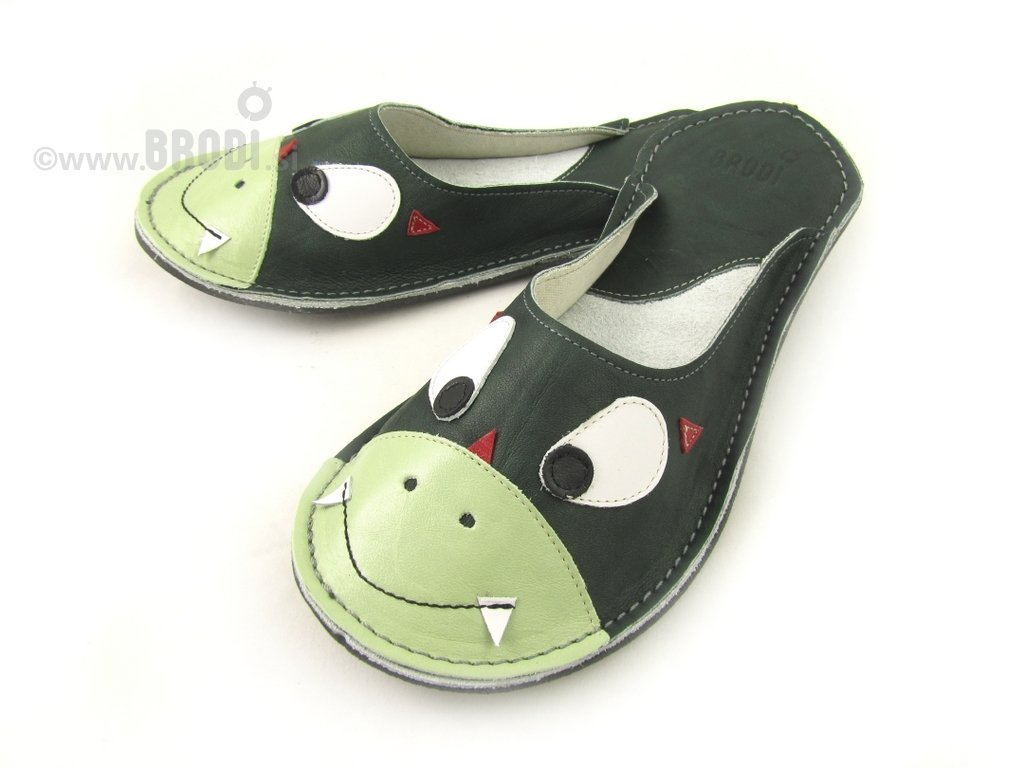 Ajda Slippers with Dragon