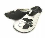 Ajda Slippers Black and White