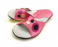 Ajda Open Toe Pink with Circles