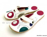 Ballerina Shoes Gaja White with Strap