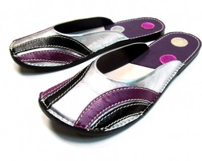 Ballerina Shoes Gaja Silver and Violet