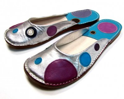 Ballerina Shoes Gaja Silver with Dots