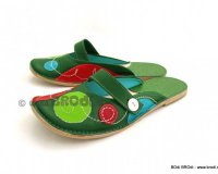 Ballerina Shoes Gaja Green with Strap