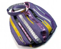 Handbag Baggy Ursa Violet with Stripes