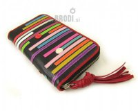 Wallet Flora Black with Stripes
