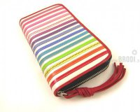 Wallet Flora White with Stripes