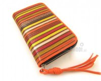 Wallet Flora Brown with Stripes