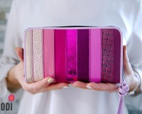 Wallet FLORA Pink Stripes