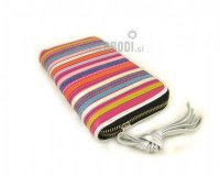 Wallet Flora Pink with Stripes