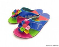 Flip-flops Imperija Blue with Flower