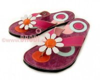 Flip-flops Mimi with Circles Different Decorations