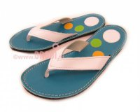 Flip-flops Mimi Blue with Circles