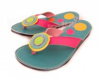 Flip-flops Mimi Blue Different Decorations