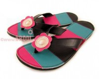 Flip-flops Mimi Blue and Pink Different Decorations