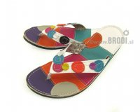 Flip-flops Mimi Silver with Circles