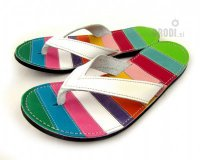 Flip-flops Mimi Colourful with White Straps