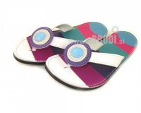 Flip-flops Mimi Colourful with White - different decorations