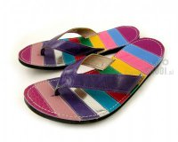 Flip-flops Mimi Colourful with Violet Straps