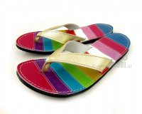 Flip-flops Mimi Colourful with Gold Straps