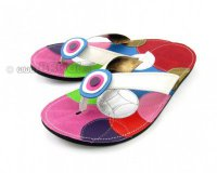 Flip-flops Mimi White with Circles