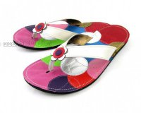 Flip-flops Mimi White with Flower