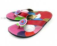 Flip-flops Mimi Red with Circles