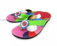Flip-flops Mimi Green with Circles